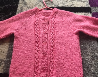 New Hand knitted Child's Cardigan 3-4 years