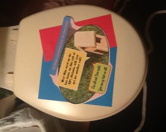 Toilet Seat Cover Art