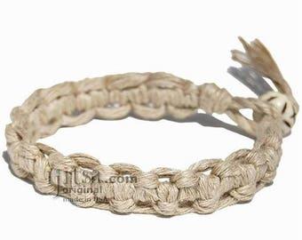 Interlocked Natural Hemp Surfer Bracelet or Anklet