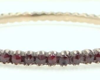 Victorian Bohemian Garnets Bangle Bracelet