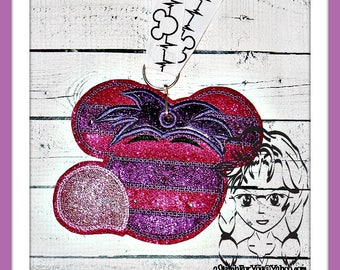 Alice SMiLEY CAT Pin Lanyard Display Mouse HeaD Trader ~ In the Hoop ~ Downloadable DiGiTaL Machine Embroidery Design by Carrie