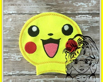 PIKA POKE GAME Ear (Add On ~ 1 Pc) Mr Ms Mouse Ears Headband ~ In the Hoop ~ Downloadable DiGiTaL Machine Embroidery Design by Carrie