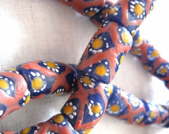 FAIR TRADE BEADS Krobo powdered glass west african beads