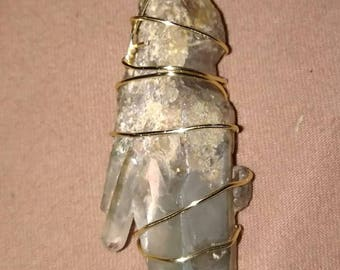 Wire Wrapped Phantom Quartz