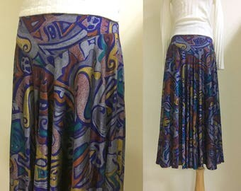 High waisted floral maxi skirt