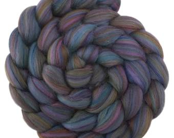 Custom Blended 100% Merino Wool Roving Top - 4 oz. CALYPSO - Spinning Felting Fiber