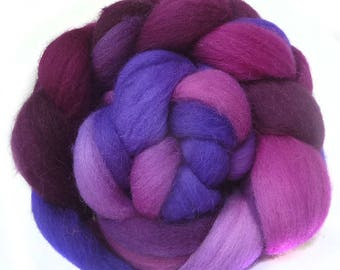 Shetland handdyed wool roving top spinning or felting fiber 3.7 oz