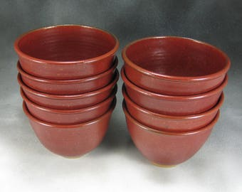Bowl Rust Red Pottery Cereal Bowl Hand Thrown Stoneware Pottery Serving Bowl 3 Cup Bowl Soup Bowl