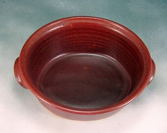 Pottery Casserole Dish Rust Red Small Ceramic Oval Casserole Hand Thrown Stoneware Pottery 6