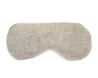 Sleeping Eye Mask / Night Eye Mask / Travel Eye Mask / Sleep Mask - Tan Twill