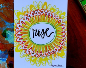 rise - 5 x 7 inches