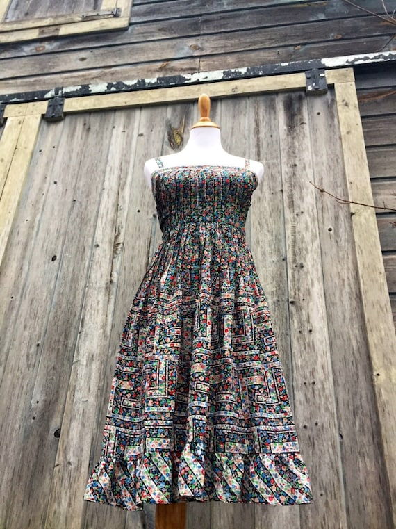 Vintage Bohemian Dress/ Prairie Dress/70s dress/Nipon Boutique Dress/ Boho Dress