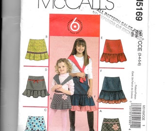 McCall's  Child's Skirts Pattern 5169