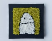 halloween...punch needle...mini ghostie