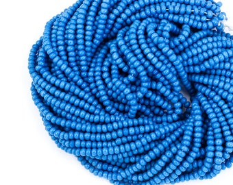 10/0 Opaque Slate Blue Czech Seed Bead (Hank) #CSF084