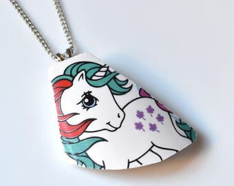 Broken China Jewelry Necklace  - My Little Pony