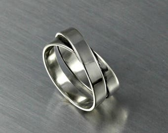 ON SALE TODAY Eternity Ring, Overlapping Ring Design, Wide Wrapped Ring