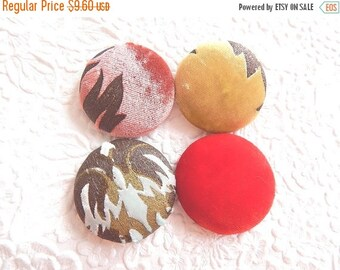 CLEARANCE - Velvet multi buttons, fabric buttons, size 60 buttons, set of 4 buttons