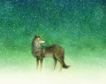 To The Dark And The Snow That Falls - fine art print