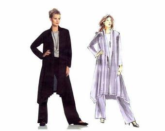 SALE Issey Miyake Shawl Collar Jacket Straight Leg Pants Vogue 1022 Sewing Pattern Size 8 - 10 - 12 - 14 - 16 - 18 UNCUT