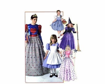 SALE Misses Glinda Witch Princess Queen of Heats Wizard of Oz Storybook Costumes McCalls 4948 Sewing Pattern Size 8-10-12-14-16-18-20-22 UNC