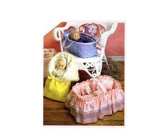 SALE Doll Carriers Covered Basket Bunting Simplicity 6056 Vintage Sewing Pattern UNCUT