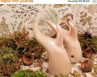 ON SALE Pearl White Nymph Fairy Costume Antlers - Made to Order