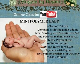 "Online Class ""Making a Mini Polymer Baby"" OOAK Art Dolls"