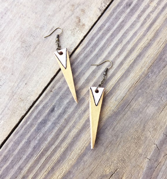 Leather Cone Earrings