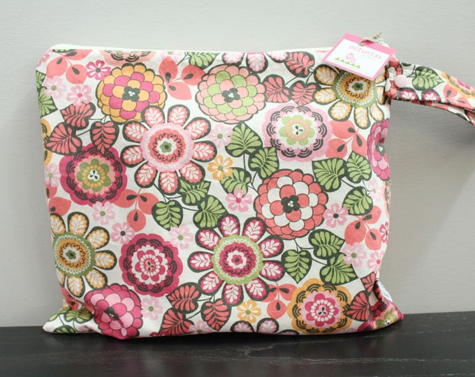 Wet Bag wetbag Diaper Bag ICKY Bag wet proof pink flower gym bag swim cloth diaper accessories zipper gift newborn baby kids beach bag