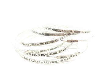Road Trip Bangles, I slay bracelet ride or die bracelet friendship bracelet silver bangle bracelet jewelry with meaning