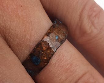 Simple Hammered Copper Ring 1
