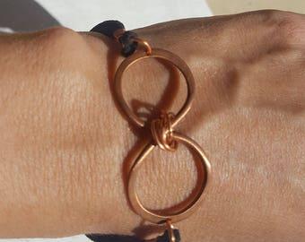 Hammered Copper Infinity Bracelet