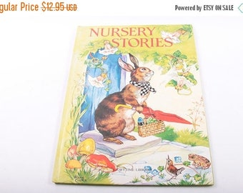 Nursery Stories, Storytime Library, Illustrated, Rhymes, 1976, Awards Publications, Vintage, Children's Book ~ The Pink Room ~ 170307