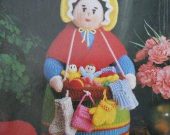 Knitting Patterns Jean Greenhowe's Bazaar Knits DK Weight Yarn Doll Brooches Pin Cushions Finger Puppets Sachets Paper Original NOT a PDF