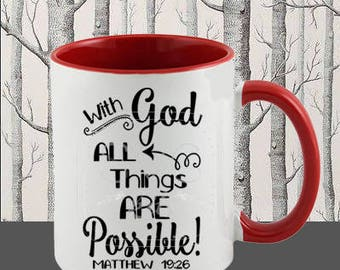 All Things Are Possible SVG Commercial Use digital cut file for htv Cricut Silhouette cut file October Fall Thanksgiving Christian Scripture