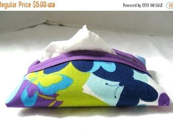 Flash Sale Butterfly Pocket Tissue Holder Purple Purse Tissue Case