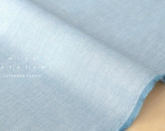 Japanese Fabric - star dust chambray - light blue - 50cm