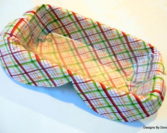 Basket Liner, Bread Cover, Centerpiece, Table Topper, Fruit/Vegetable Bowl/Basket liner Fall Plaid, Handmade Table Linens