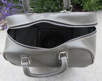 VINTAGE gray bowling ball BAG