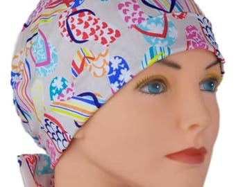 Surgical Scrub Hats - The Mini - Fabric Ties