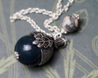 Acorn pendulum made with Gemstone charm  - for divination & Dowsing - Pagan, Wicca, Witchcraft