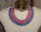 Big and bold Cleopatra style bib necklace