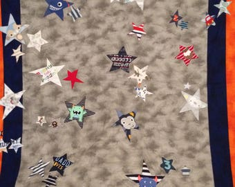 Baby clothes star quilt