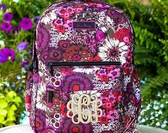 New Vera Bradley Backpack, Rosewood Lighten up Grande backpack, Monogrammed bookbag, personalized backpack, Laptop backpack, retired pattern