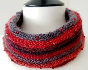 Crystal Cowl Knitting Kit (yarn) - ROUGE