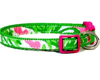 SALE ~ Dog Collar Made from Lilly Pulitzer NIBBLES Fabric ~ XS Only