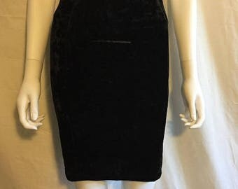 Closing Shop 40%off SALE 90s Black Velvet bodycon tight mini skirt