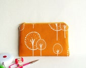 Small Zippered Pouch - Orange Trees