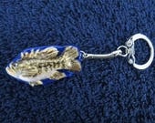Fish Keychains Handmade Big Mouth Bass Small Mouth Bass Blue Gill Key Chain Made to Order by Shannon Ivins